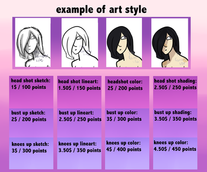 New commision prices by TheFanta-syLife