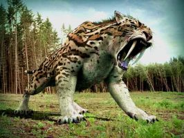 sabre tooth tiger by tresspaser64