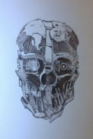 Corvo's mask from Dishonored by Jbob1390