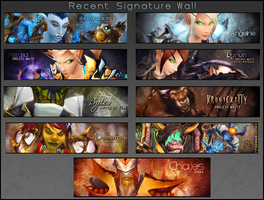 Recent Signature Wall by Melificence