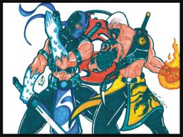 Sub Zero vs Scorpion by Agent19XS
