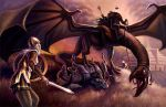 Eowyn and the Witch King by R-Valle