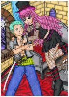Perona and Zoro  -One piece- by raptorthekiller