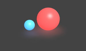 Red and Blue Ball by Pathard