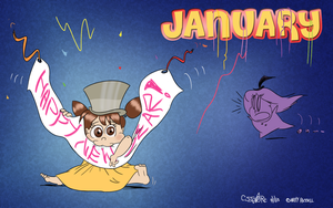 DA Calendar 2013 - JANUARY by qwertypictures