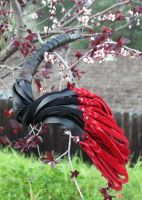 Horn and Bullhide Leather Flogger #153 by NaamahFeral