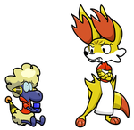 Pokemon Style - Zenith and Fortiscue by TheGunheart
