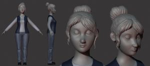 WIP cashier  -Diploma Movie characters 2/3 by Magena77