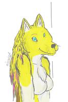 Yellow Dog by icewolf289