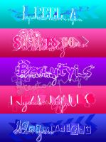 Pack de 5 Textos PNG by DimeLaauty
