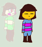 Frisk and Chara (Undertale) by tails-fangirl