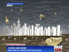 NYC Hit By Irene Flood by cow41087
