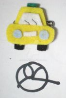 Taxi brooch by 402ShionS3