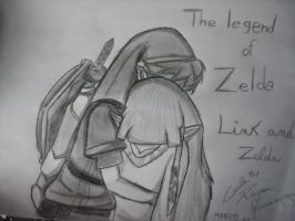 The legend of Zelda - Link and Zelda by Kairica