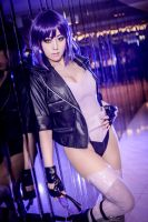 The ghost in the shell -Motoko Kusanagi by TENinania