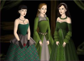 Slytherin Girls - Yule Ball by Bronniii