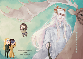 Cover of LotR and TBA fanbook by wameow