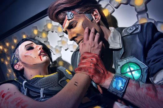 Borderlands - Handsome Jack and Angel by MaryMustang01