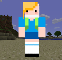 Minecraft Fionna Skin(DOWNLOAD IN THE DESCRIPTION) by B4ItWasMainstream