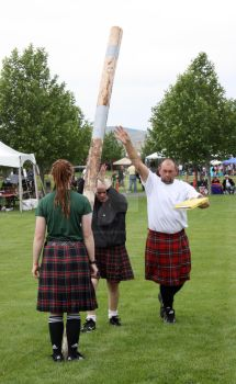 Scottish caber toss by cabanaeclipse