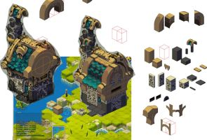 Haven-World Mmo Wakfu: little stone house //WIP by Sevpoolay