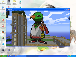 MineCraft Art - Xatu by SqueakyTachibana