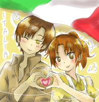 Italia - Lovino and Alice - APH by MikuFregapane
