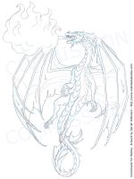 Sketch Commission - Dragon Tattoo Design by Nightlyre