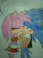 sonamy kiss by cristinathehedgehog
