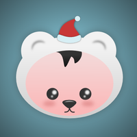 Christmas Bear by wildgica