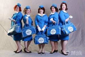 PanAm Stewardress - The group by MoonRosesTeam