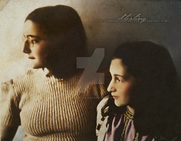 Margot + Anne Frank by Livadialilacs