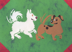 Dog Friends by Leonca