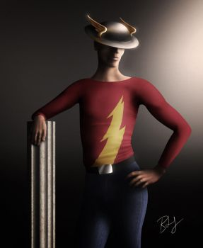 Jay Garrick as The Flash by Ladonite