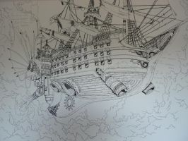 Dessin mural-Pirate ship by LucioL-2zR