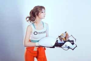 Chell GLaDOS Portal 2 Cosplay by AGflower
