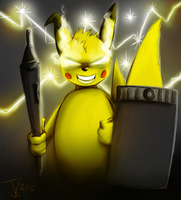Birthday Art - The Knight of Pika by jamescorck