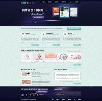 BlueDOT - Creative PSD Template - For SALE by arkgrafik