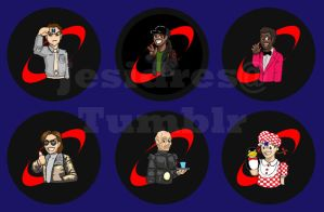 Red Dwarf Buttons by JesIdres