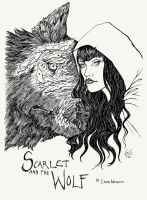 Scarlet and the Wolf by porcelianDoll