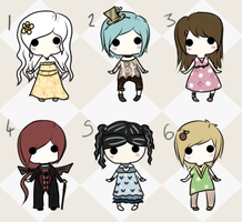 Chibi Adopts 02 {CLOSED} by TeaCrazy1837