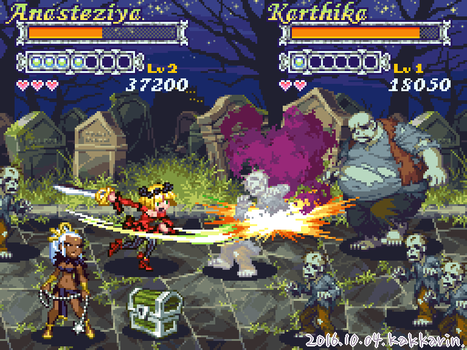 Game Mock-Up Screen : Beat 'em Up by kakkarin