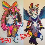 Full body badge commissions by NeonRedWings