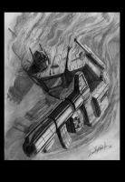 Optimus Prime-smoke, pencil by LivioRamondelli