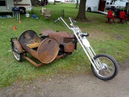 Home Made Chopper right front by Caveman1a