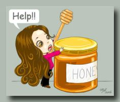Chibi Mil and the honey jar by honeymil