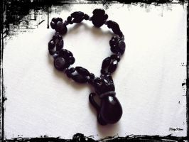 Halloween Black Cat Bracelet by Cateaclysmic