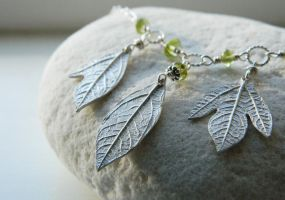 Custom Sassafras Necklace with Peridot by QuintessentialArts