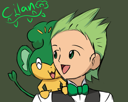 Pokemon - Cilan and Pansage by DrSpencerReidBietch