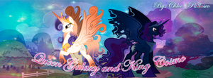 King Cosmo and Queen Galaxy MLP by Chloe-Pallasco